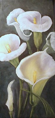 This lovely Calla Lily painting would certainly grace your home.