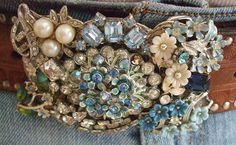 Blue Blingy Buckle
