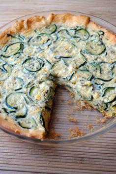 Italian Zucchini Crescent Pie  sohowsittaste.com