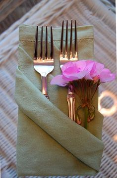 Napkin Folding: Triple Pocket Fold by Between Naps on the Porch