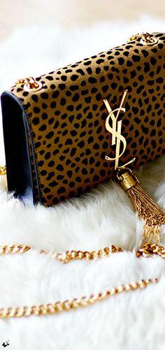 YSL handbag: leopard is a neutral!