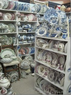 Great collection of dishes. What is the name of dishes that consists of only one color and white?   Toile?