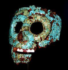 Mascara de turquesas y jade,azteca