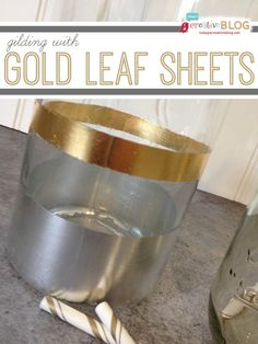 Gilding with Gold Leaf Sheets | Gold accents |TodaysCreativeBlog.net