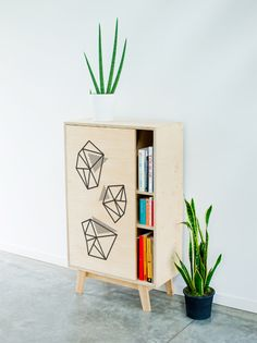 thanks to the tree // geo print cupboard