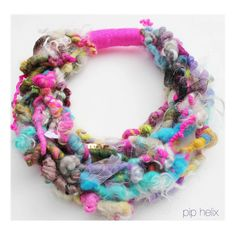 Riviera Fiber Art Necklace by PipHelix