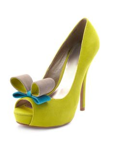 Bright yellow with a bow...these have Sam Hesson written all over them!