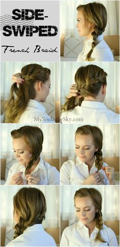 2 Easy Hairstyles for Fall: Side-Swiped French Braid - missy sue french braids, sideswip french, favorit hairstyl, healthy hair, dutch, braid hairstyles, beauti, headbands, hair makeuppp