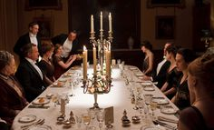 Downton Abbey dinner party