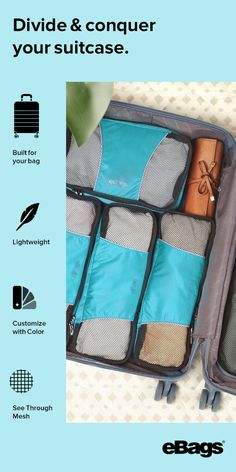 Stay organized on the go with eBags packing cubes.
