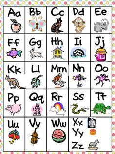FREE alphabet chart!