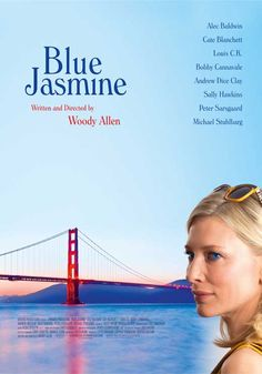 """After everything in her life falls to pieces, including her marriage to wealthy businessman Hal, elegant New York socialite Jasmine moves into her sister Ginger's humble apartment in San Francisco to try to pull herself back together again."" Find Woody Allen's latest film BLUE JASMINE in our catalog: http://highlandpark.bibliocommons.com/item/show/2316306035_blue_jasmine"