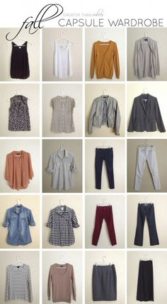 Fall Capsule Wardrobe Remix: The Pieces