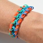 The Rain Drop Rainbow Loom bracelet is a great pattern for kids at the intermediate skill level!