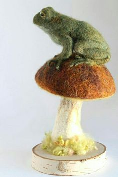 Toad on a toadstool