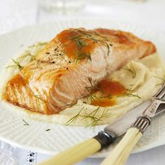 Citrus-Glazed Salmon #vegetables #protein #myplate