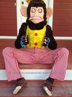 Coolest Homemade Clapping Monkey Costume... Coolest Halloween Costume Contest