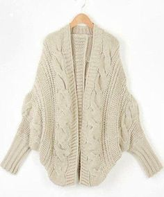 Oversized Autumn Winter Knitted Cardigan Sweater