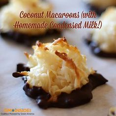 Recipe alert! Coconut Macaroons With Homemade Condensed Milk! Get it here: http://gmoinside.org/non-gmo-recipe-coconut-macaroons-homemade-condensed-milk