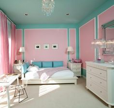 candy colored room for a little girl