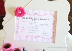 Hair bows for baby {baby shower craft idea}