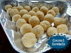Coconut Snowballs Recipe {It's a Handi-foil Christmas!} - Mommy Snippets