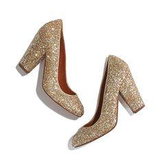 #gold #glitter #heel