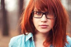 Red hair with bangs @Katie Hrubec Olivas would we have to bleach it to get this red? I don't wanna bleach! Ha