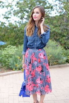 floral midi skirt, M Loves M