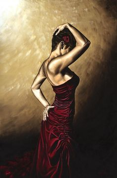 Flamenco Woman Painting by Richard Young - Flamenco Woman Fine Art ...