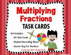 Multiplying Fractions Task Cards $