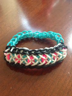 Rainbow Loom Patterns: Confetti Criss Cross Rainbow Loom Pattern (with youtube tutorial)
