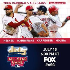 Glad to see Yadi, Waino, Matt Carp, and Neshek make it to the MLB All-Star Game this year.| Justin's Sports Corner  #STLCards #MLBASG