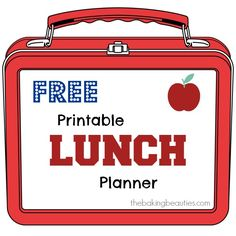 Free Printable Lunch Planner from Jeanine of The Baking Beauties