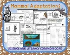 Mammal Adaptation Unit teaches ELA and Science! Enter for your chance to win.  Mammal Adaptations Combines Next Generation Science with ELA Common Core Standards Thematic Unit (50 pages) from Smart Teaching on TeachersNotebook.com (Ends on on 9-22-2014)  So easy for you - perfect for ELL learners!