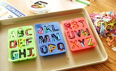 summer crafts, party favors, ice cubes, alphabet crayon, gift ideas, kid projects, melted crayons, ice cube trays, coloring books