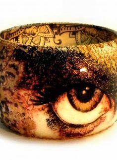 The Fall of Gypsy,  Jewelry, cuff  bracelet  gypsy  eye  fall color, Chic