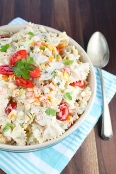 Easy Pasta Salad from Miss in the Kitchen