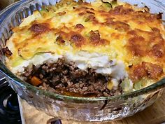 Low carb shepherds pie.  all Lindas Low carb recipes are excelent