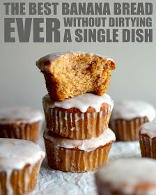 Yammie's Noshery: The Best Banana Bread Muffins Ever {Without Dirtying a Single Dish}