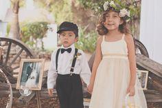 #vintage ring bearer + flower girl cuties - photo http://www.hazelwoodphotoblog.com - view more: http://ruffledblog.com/nostalgic-los-angeles-wedding