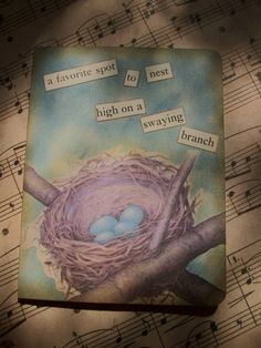 OOAK Art Collage and Ink Card The Nest by PaperPastiche on Etsy, $5.95