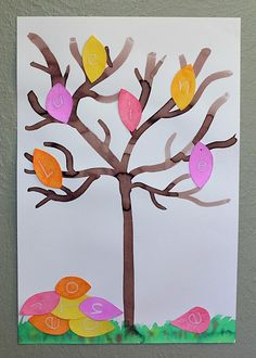 Such a fun fall themed letter activity for kids! (Mystery Letter Fall Tree)~ BuggyandBuddy.com