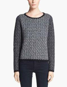 Cozy! rag & bone black and white Sweater
