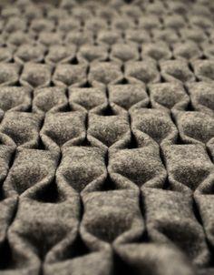 """Pattern made of folded wool - """"Yfasmatik"""" by Berlin artist Rtmis"""