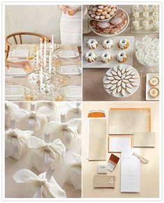 wedding dessert table white
