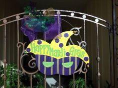 Mardi Gras Door Hanger by KissyFishDesigns on Etsy, $45.00