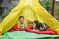 backyard camp, backyard fun, backyard style, kid