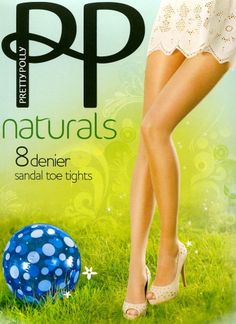 Pretty Polly Naturals 8 denier Tights Pantyhose