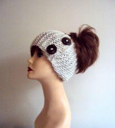 Knit Head Band with Buttons Ear Warmer Cowl Neckwarmer Dreadlock Rasta Headband Women Fashion Accessories Hair Accessories Gift Ideas by GrahamsBazaar
